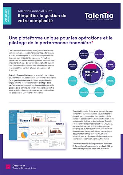 Datasheet Talentia Financial Suite